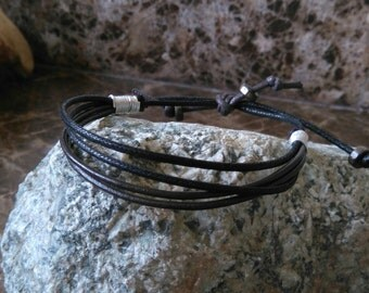 leather wrap bracelet surf style leather wristband multi wrap surf bracelet mens leather bracelet tribal wristband