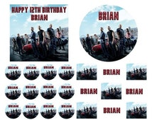FAST AND FURIOUS Birthday Cake Frosting Edible Image Toppers, Cupcakes, Sides, Thank You Cards or Invitations