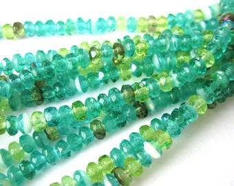 1 strand 4 x 2, 5mm Czech glass beads mix