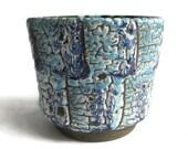 ES Keramik Emons & Söhne Decor Alaska West German pottery planter  plant pot  flower pot cover midcentury modern retro vintage fat lava blue