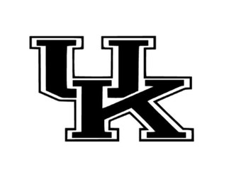 "University Of Kentucky vinyl decal - UK 5""x6"""