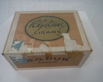 1940's R.G. Dun Admirals Cigar Box-Vintage-Collectible
