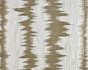 DESIGNER ETHNIC CHIC Inca Stripes Ikat Southwest Kilim Fabric 10 Yards Bark