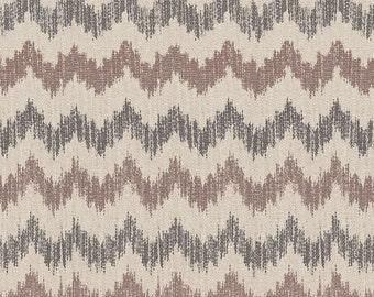 SCHUMACHER SIERRA IKAT Flame Stitch Fabric 5 Yards Raisin