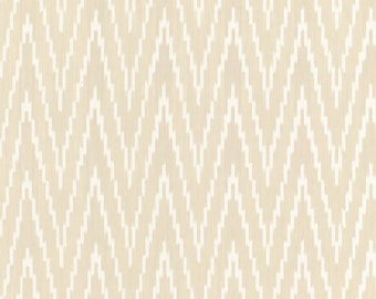 SCHUMACHER KASARI IKAT Flamestitch Fabric 10 Yards Sand
