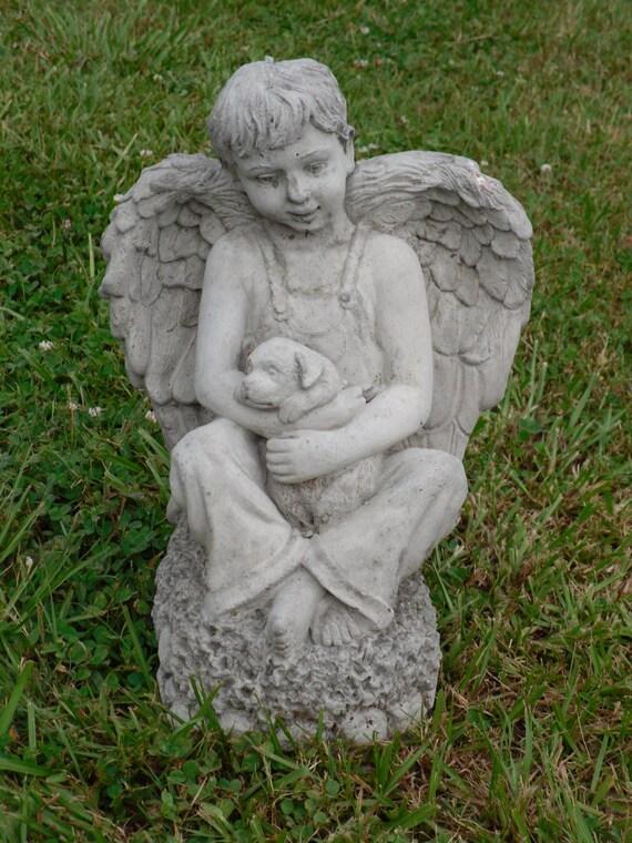 Cement Statue Garden Statue Yard Statue Angel Statue Boy