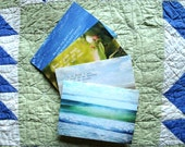 Nature Notecard Variety Pack set of four greeting cards quotes floral ocean Laura Cottril by LalaandNini on Etsy