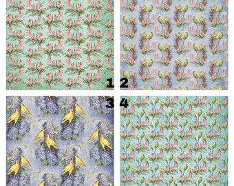 Background Option for Portrait: Nature floral and birds patterns