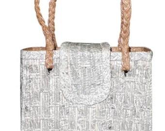 Black & White Phonebook Handbag SMALL