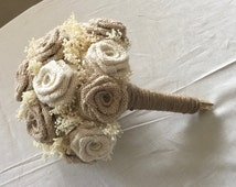 Natural & Ivory Burlap Wedding Bouquets, Rustic Weddings, Bouquets, Barn Weddings, Floral Bouquets, Rustic Bouquets, Wedding bouquets