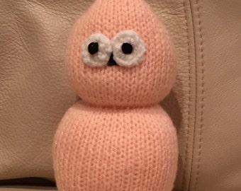 Hand Knitted EDF Zingy Mascot Soft Toy  ( ALL proceeds to charity )