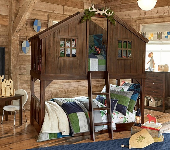 House Bunk Bed Pottery Barn