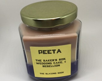 Peeta candle - Hunger Games Inspired - hand poured 8 oz Soy Candle - Home Decor
