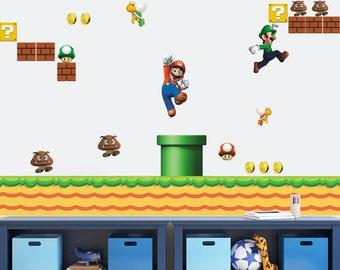 Huge Super Mario Bros Removable Wall Sticker Decals Kids Nursery Decor Part 86