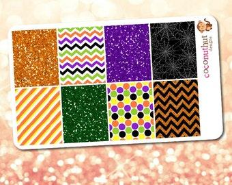 Halloween Glitter & Decorative Full Box Planner Stickers