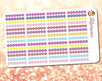 Flower Border Planner Stickers