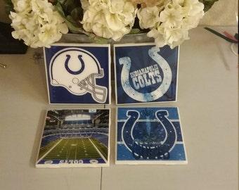 Indianapolis Colts coaster set