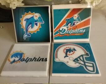 Miami Dolphins coaster set
