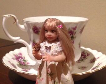 OOAK dollhouse miniature doll 1:12 scale