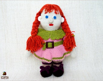 Handmade. Knitted gnome doll. Knitted dwarfs / gnome with costume. Gnome doll with clothes.