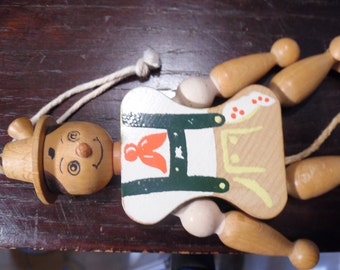 Wooden Pull Toy Hand Painted From Austria