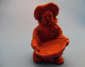 Old Gold Prospector Hand Carved out of Wood with Gold in His Pan