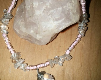 Rose quartz heart chakra healing bracelet