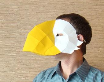 flamingo beak template - bird mask etsy