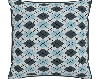 "Throw pillow cover – Cushion cover ""Argyle rhombs"" - 35*35 40*40 50*50 cm"