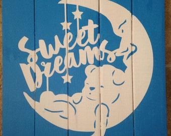 Sweet dreams nursery sign