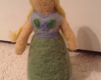 Anna Needle Felted Doll