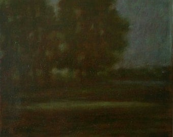 12x12, Moody, Original oil painting,Hicks-Larson art,