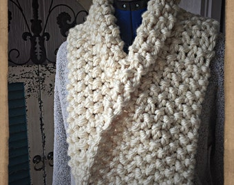 Chunky Scarf, Super Soft, Great Texture-Pearl