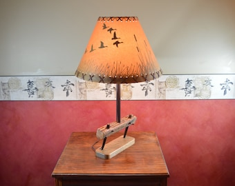 Rustic Table Lamp, Field Drag light, Repurposed Lamp,Steampunk Light, Farm Implement Lamp,Machine Lamp #213