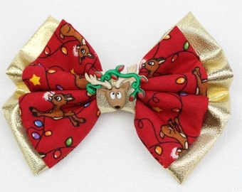 Rudolph Hair Bow