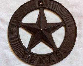 Wrought Iron Star Texas Metal Wall Decor