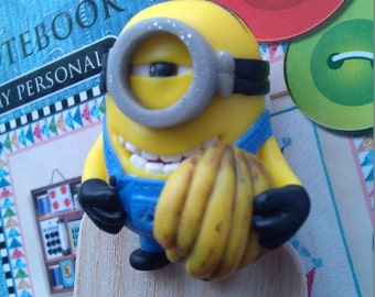 Bookmark Minion with a branch of bananas.The original gift.