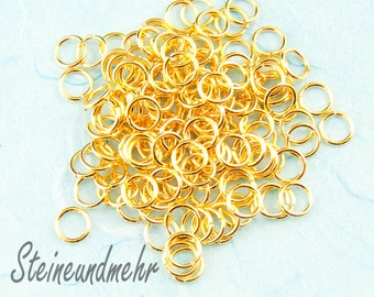 25x Bending rings 6x 0.8 mm gold plated art. 2771