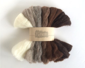 Wool Roving Pack / Sheep / Undyed / 120 grams