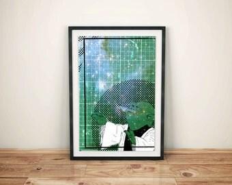 Star Wars - Yoda Print - A3 Print / Poster - Original Illustration