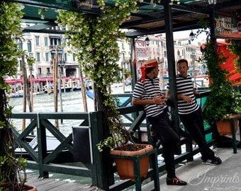 Venice photography, Italy photography, Italian home decor, gondoliers photo, Italy print, Venice scene, Venice wall art, Italian men