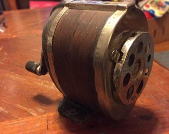 Vintage Boston wood grain pencil sharpener