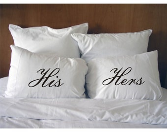 His and Hers Pillowcases , Wedding Gift #6