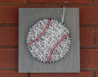 """Baseball String Art- 7 1/4""""x 7 7/8"""""""