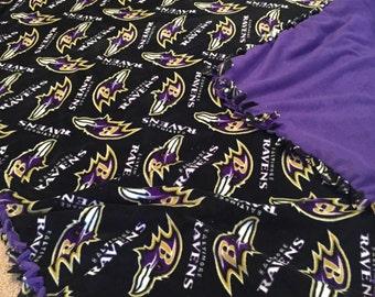 NFL Baltimore Ravens Hand Tied Fleece Blanket
