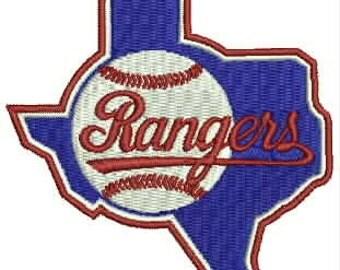 Texas Rangers Embroidery Design