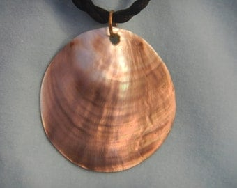 Abalone shell on a string, Vintage necklace