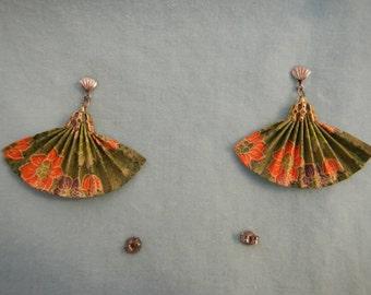Fans Earrings, Vintage