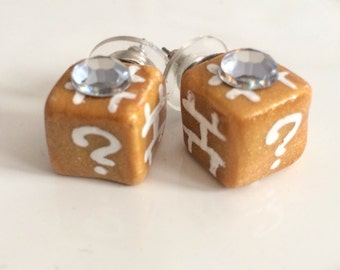 Mario Cube Earrings