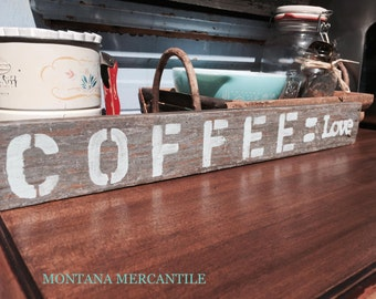 Hand Melded Coffee Sign